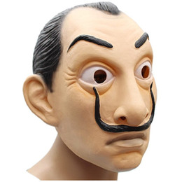 sci fi costumes wholesales Australia - Cosplay La Casa De Papel Mask Salvador Dali Halloween Costume Accessories Latex Face Props