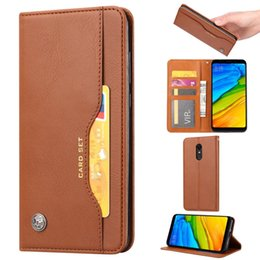 $enCountryForm.capitalKeyWord NZ - Fashion Genuine Leather Flip Wallet Phone Case For Xiaomi Redmi 5 Plus Stand Card Slots Holder Cover For Redmi 5Plus Book Style