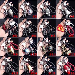 Superhero ShieldS online shopping - The Avengers Captain America Keychain Superhero Star Shield Pendant Keyring Car Key Chain Accessories Batman Marvel with bottle opener