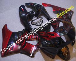 Cbr 919 Fairings Red Australia - Complete Motorbike Fairing For Honda CBR900RR 919 1998 1999 CBR919 CBR900 900RR CBR 98 99 Red Flame Body Fairings Aftermarket Kit