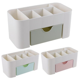 Stationery Australia - Alloyseed Office Desk Organizer With Drawer Plastic 6 Grid Storage Box Case Desktop Stationery Pen Pencil Container Accessories