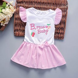 Short Frock Girls NZ - good quality Girls 2019 New Dress Children Spring Autumn Short Sleeve Party Dress Clothes Bebe Princess Style Frocks Baby Costume
