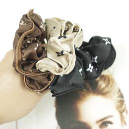 Designer Haarbänder Druck Blume Und Buchstaben Elastisches Haar Seil Luxus Simulation Silk Elastic Hair Headgear 20 teile / los im Angebot
