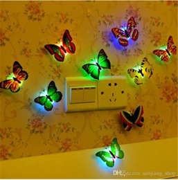 $enCountryForm.capitalKeyWord NZ - Butterfly dragonfly LED Night Lights Lamp Creative Color Changing Beautiful Home Decorative Wall Nightlights christmas Halloween gifts new