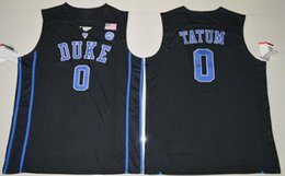 8dc7be6cd Cheap custom Blue Devils  0 Jayson Tatum Black Basketball Jersey Stitched  Customize any number name MEN WOMEN YOUTH XS-5XL