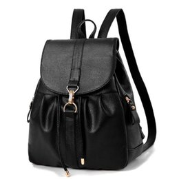 Discount ship covers for cell phones - New Women Backpack Fashion High Quality Youth Leather Backpacks for Teenage Girls Female School Bag Backpack free shippi