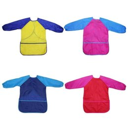 Discount apron children sleeves New Pack of 2 Kids Art Smocks, Children Waterproof Artist Painting Aprons Long Sleeve with 3 Pockets for Age 2-6 Years