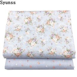 $enCountryForm.capitalKeyWord Australia - Syunss New Gray Floral Print Twill Cotton Fabric DIY Handmade Sewing Patchwork Baby Cloth Bedding Textile Quilting Tilda Tissus