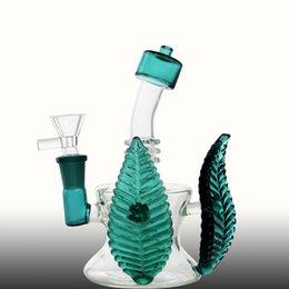 Vente en gros AS2 mignon feuille design mini bang en verre, bots en verre Hotselling du fournisseur de porcelaine, vente directe d'usine 2019