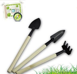 garden tools rakes NZ - 3pcs New Creative Gardening Tools Three Piece 3 Pcs Set Mini Garden tools Small Shovel  rake   Spade  Potted Plant Flowers