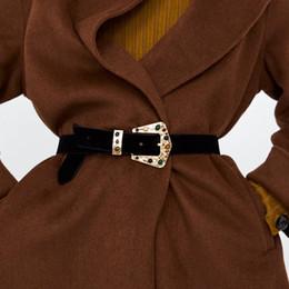 Best Wedding Pendant Australia - Best Lady 2019 New ZA Spring Style Trendy Belt For Women Wedding Multicolor Vintage Black Pendant Shiny Accessories Body Gifts