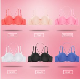 $enCountryForm.capitalKeyWord NZ - Sexy Bra Hanging Neck 1 2 Cup Bras For Women Lingerie Seamless Bra Smooth Racerback Bralette Bow Intimates Female Underwear 2019