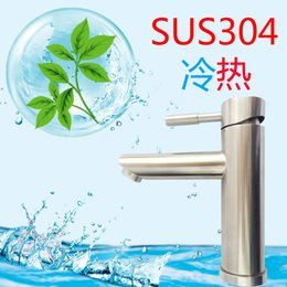 Stainless Steel Water Faucet Australia - 304 Stainless Steel Foramina Singulare Mix Water-cooling Heat Water Tap Shower Room Wash Basin Faucet Toilet Antirust Faucet