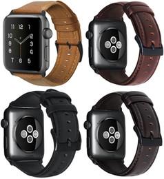 $enCountryForm.capitalKeyWord NZ - Smart Straps Luxury Oil Wax Genuine Leather Bracelet Strap For Apple Watch Band 38 40 42 44mm WristBand Accessories Watchband Series 4 3 2 1