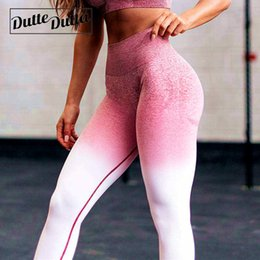 women wearing tight yoga pants NZ - Tights Woman Sports Wear For Gym Leggins Sport Women Fitness Ombre Seamless Leggings Sportswear Women's High Waist Yoga Pants C19032801
