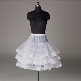 $enCountryForm.capitalKeyWord Australia - Short Petticoat with Lace Edge for Prom Wedding Dress Women A Line Underskirt Bridal Crinoline Jupon