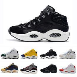 35babeebd34b9 2018 Classic Allen Iverson 1 Olivgrünes Gelb-Rot-Basketball-Schuhe für  hochwertige Herren-Turnschuhe Answer One AI Sports Sneakers 40-45