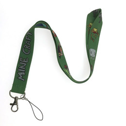 neck card hang rope 2019 - 10PCS Mine Craft Lanyard DIY Hang Rope Lariat Lanyards Neck Strap For ID Pass Card USB Badge Holder Gym Key Lanyard for