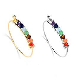 $enCountryForm.capitalKeyWord Australia - Fashion 7 Chakra wire Bangle For Women Yoga Natural Stone beads charm bracelets Reiki Spiritual Buddha 2019 Personalized Jewelry in Bulk