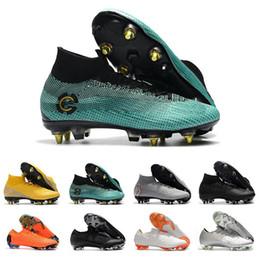 e38d70129 Mercurial Superfly VI 360 Mens Football Boots CR7 Ronaldo Neymar FG KJ  Youth Player Soccer Cleats chuteiras de futebol Futsal Soccer Shoes