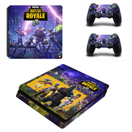 Juego Fortnite PS4 Slim Skin Sticker para Sony PlayStation 4 Console y 2 controladores PS4 Slim Skins Sticker Decal Vinyl en venta