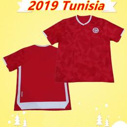 793ecc813 Cheap Thailand Quality Tunisia national team soccer jersey 2019 African Cup  2020 Football shirt 19 20 home red Camiseta de futbol uniforms