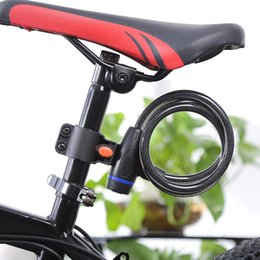 Bicycle Bike Motorcycle Lock Australia - Universal Anti-Theft Bike Bicycle Lock Cable Coil For Castle Motorcycle Cycle MTB road Bike Security Lock with 2 Key Locks Accessories