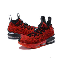 flower shoes kids NZ - Mens what the lebron 15 XV basketball shoes for sale flowers MVP Christmas BHM Oreo youth kids Generation boots with Size 7 12