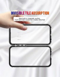$enCountryForm.capitalKeyWord Australia - Magnetic phone case for Samsung note8 9 s8 9 plus s10 s10e Adsorption Tempered Glass Back Panel Cover Cell Phone Cases Free Shipping