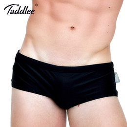 Wholesale new boxer briefs for sale - Group buy Taddlee Brand New Sexy Men s Swimwear Swimsuits Swim Boxer Briefs Solid Pure Color Surf Board Trunks Swimming Bikini Gay