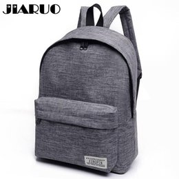 Wholesale Classical Simple canvas Women Backpacks School bag for teenagers Girls Student book Laptop Back pack travel Mochila