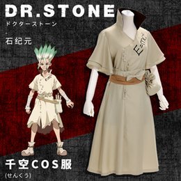 stone costumes Australia - Japan Anime Unisex Dr Stone Cosplay Costume Ishigami Senku Halloween Uniform Cloak Full Set ( Asian Size )