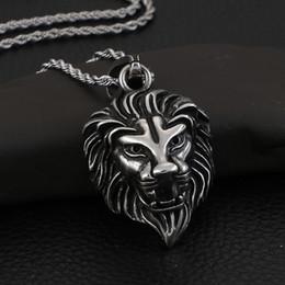 Biker Chains Pendants Australia - KP57663-BD punk -hiphop jewelry Pure stainless steel biker lion pendant necklace free chain cool mens gifts