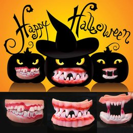 $enCountryForm.capitalKeyWord Australia - 2pcs lot Halloween decorations ghost festival party wacky things scary dentures industries funny teeth did the zombie teeth