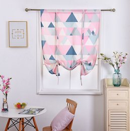 Cotton Drapery Australia - 46 * 63 inch Half Shading Curtain geometric Cabinets bookcases treatments Cotton and linen Home Textiles Semi-Shade pastoral summer