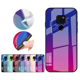 $enCountryForm.capitalKeyWord Australia - Designer Gradient Tempered Glass Cellphone Case for Huawei P30 P20 Pro Lite Mate 20 Pro 20 Honor 8 Nova 5 Pro Back Cover
