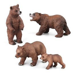 $enCountryForm.capitalKeyWord Australia - 4pcs set Various shape Brown bear Forest Animal model figure Solid Collection decoration Children educational toy Gift For Kids