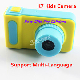 $enCountryForm.capitalKeyWord NZ - Best Gifts For Children Camera K7 Kids Camera Mini Digital Kids Camera Cute Cartoo 1080P Toddler Toy Children Birthday Gift Multi-Language