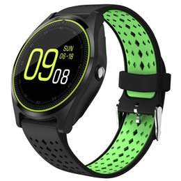$enCountryForm.capitalKeyWord Australia - Smart Watch Phone with Camera Round Bluetooth Smartwatch Support SIM Card Passometer Wristwatch for Android Phone Wearable Devices