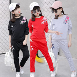 Girl Children Models NZ - Big girls autumn children sports models sweater suit 2019 new children in the spring and autumn girl wear two piece