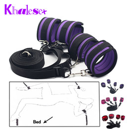 Slave Toys Shop Australia - Khalesex Sexy Adult Fun Games Sex Bondage Under Bed Restraint Slave Foot s Fetish Bondage Sex Toys for Couple Sex Shop Y18110802