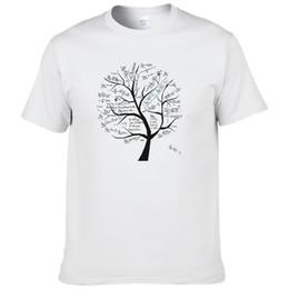 Math Shirts Australia - Mathematical Math Formula Tree Printed T Shirt Short Sleeve Summer Style Tshirt Casual Cotton T-shirt For Men #166