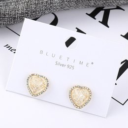 Best seller jewelry online shopping - fashion jewelry Best Sellers Panya Wind Earrings S925 Silver Needle Simplicity Xiao Taoxin k Gold Dazzle Acrylic crystal ear studs B