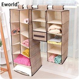 $enCountryForm.capitalKeyWord Australia - wholesale Cells Creative Clothes Hanging Drawer Box Underwear Sorting Storage Wall Wardrobe Closet Organizer Shelves