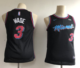 456a6abb243d Heat sHirts online shopping - 2019 Kids Miami Dwyane Wade Heat Edition Basketball  Jerseys City Black