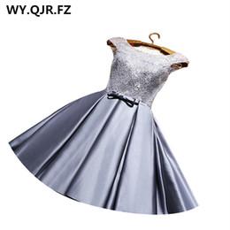 $enCountryForm.capitalKeyWord Australia - Yrpx#lace Up Grey & Wine Red Short Bridesmaid Dresses Plus Size New Spring Summer Wedding Party Prom Dress 2019 Cheap Wholesale J190618