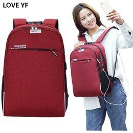 $enCountryForm.capitalKeyWord Australia - Anti-theft Password Lock Ladies Laptop Backpack Men's Usb Charging Business Travel Bag With Headphone Plug Student Schoolbag Y19061102