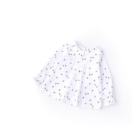Floral Print Shirts Baby Australia - Toddler Girl Shirts 2019 Spring Fashion White Color Baby Girls Blouses Cute Cherry Printed Long Sleeve Ruffle Tops Kids Clothes