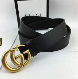 $enCountryForm.capitalKeyWord NZ - 2019 designer belts mens designer belts genuine leather business belt buckles belt black strap big gold buckle womens belt gift box001