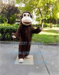 Monkey Halloween Costumes Australia - Professional custom Gorilla Mascot Costume cartoon plush monkey animal haracter Clothes Halloween festival Party Fancy Dress